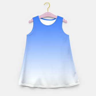 Imagen en miniatura de Blue Light Ombre Girl's Summer Dress, Live Heroes