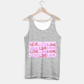 Imagen en miniatura de LOVE alphabet handwriting drawing in red and pink Tank Top regular, Live Heroes