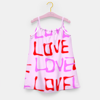 Thumbnail image of LOVE alphabet handwriting drawing in red and pink Girl's Dress, Live Heroes