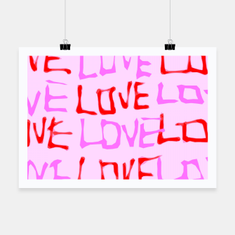 Imagen en miniatura de LOVE alphabet handwriting drawing in red and pink Poster, Live Heroes