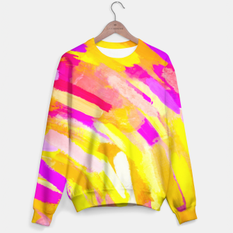 Thumbnail image of graffiti painting texture abstract in yellow pink purple Sweater, Live Heroes