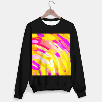 Miniatur graffiti painting texture abstract in yellow pink purple Sweater regular, Live Heroes