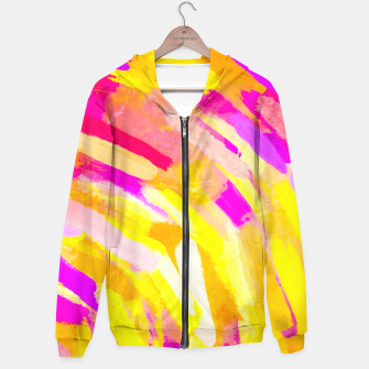 Thumbnail image of graffiti painting texture abstract in yellow pink purple Hoodie, Live Heroes