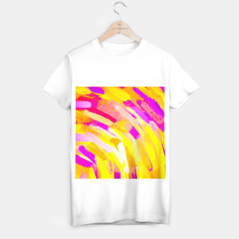 Miniatur graffiti painting texture abstract in yellow pink purple T-shirt regular, Live Heroes