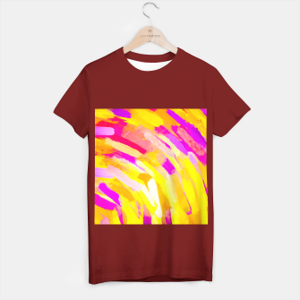 Miniaturka graffiti painting texture abstract in yellow pink purple T-shirt regular, Live Heroes