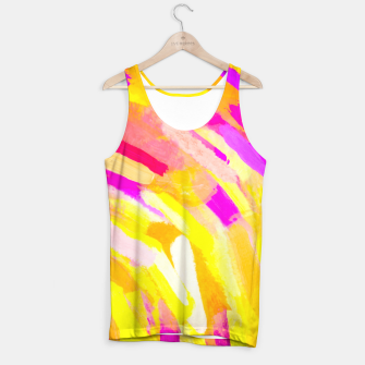 Thumbnail image of graffiti painting texture abstract in yellow pink purple Tank Top, Live Heroes