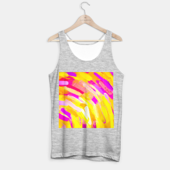 Imagen en miniatura de graffiti painting texture abstract in yellow pink purple Tank Top regular, Live Heroes