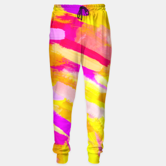 Thumbnail image of graffiti painting texture abstract in yellow pink purple Sweatpants, Live Heroes