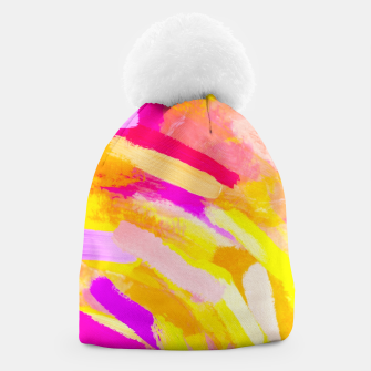 Imagen en miniatura de graffiti painting texture abstract in yellow pink purple Beanie, Live Heroes