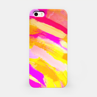 Thumbnail image of graffiti painting texture abstract in yellow pink purple iPhone Case, Live Heroes