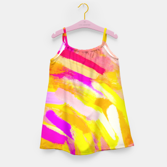 Thumbnail image of graffiti painting texture abstract in yellow pink purple Girl's Dress, Live Heroes