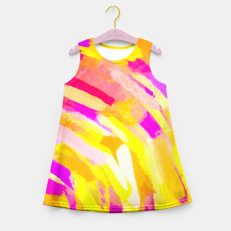 Imagen en miniatura de graffiti painting texture abstract in yellow pink purple Girl's Summer Dress, Live Heroes