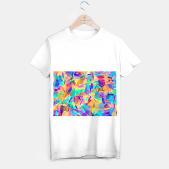 Miniaturka psychedelic splash painting abstract in orange purple green pink blue T-shirt regular, Live Heroes