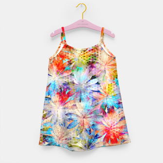 Thumbnail image of Colorful Summer leaves Mädchenkleid, Live Heroes