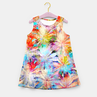 Thumbnail image of Colorful Summer leaves Mädchen-Sommerkleid, Live Heroes