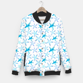 Thumbnail image of Blue Starfish Pattern College-Jacke, Live Heroes