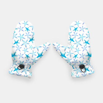 Thumbnail image of Blue Starfish Pattern Handschuhe, Live Heroes