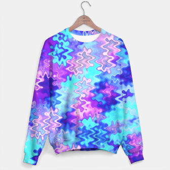 Thumbnail image of Blue and Purple Marble Waves  Sweater, Live Heroes