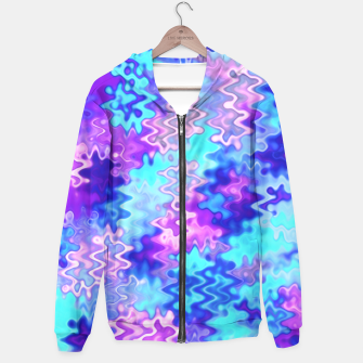 Thumbnail image of Blue and Purple Marble Waves  Hoodie, Live Heroes