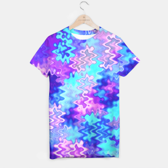 Miniatur Blue and Purple Marble Waves  T-shirt, Live Heroes