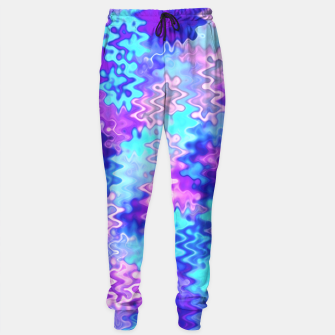 Thumbnail image of Blue and Purple Marble Waves  Sweatpants, Live Heroes