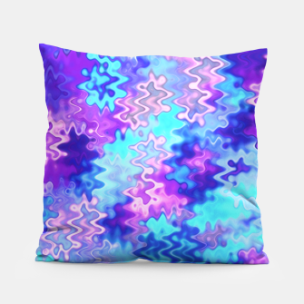 Imagen en miniatura de Blue and Purple Marble Waves  Pillow, Live Heroes