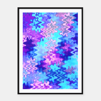 Imagen en miniatura de Blue and Purple Marble Waves  Framed poster, Live Heroes