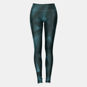 Miniaturka Trendy Blue Polygonal Design Leggings, Live Heroes