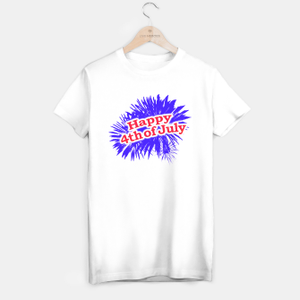 Miniaturka Happy 4th of July Graphic Logo T-shirt regular, Live Heroes