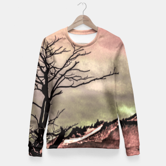 Miniaturka Fantasy Landscape Illustration Fitted Waist Sweater, Live Heroes