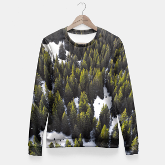 Miniaturka Winter Forest Fitted Waist Sweater, Live Heroes