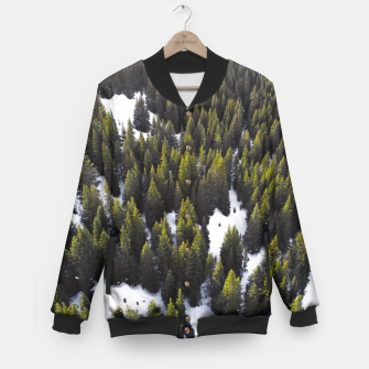 Thumbnail image of Winter Forest Baseball Jacket, Live Heroes