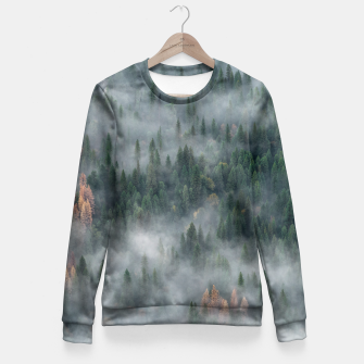 Miniaturka Foggy Yosemite Forest Fitted Waist Sweater, Live Heroes