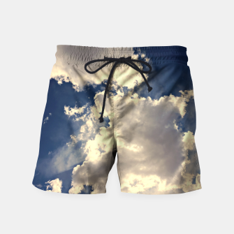 Thumbnail image of Summer Cloudy Sky Swim Shorts, Live Heroes