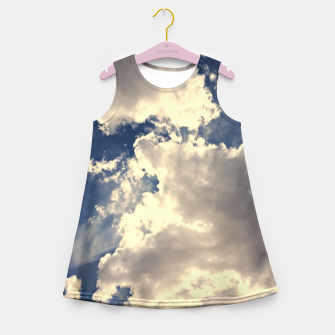 Thumbnail image of Summer Cloudy Sky Girl's Summer Dress, Live Heroes