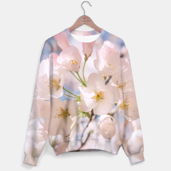 Thumbnail image of White Spring Cherry Trees Blossom Sweater, Live Heroes