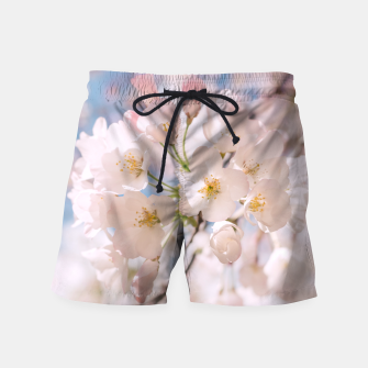 Thumbnail image of White Spring Cherry Trees Blossom Swim Shorts, Live Heroes