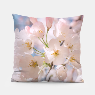 Miniaturka White Spring Cherry Trees Blossom Pillow, Live Heroes