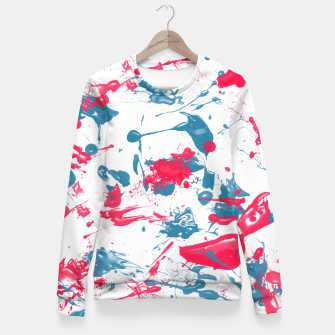 Miniaturka blue and pink splash Fitted Waist Sweater, Live Heroes
