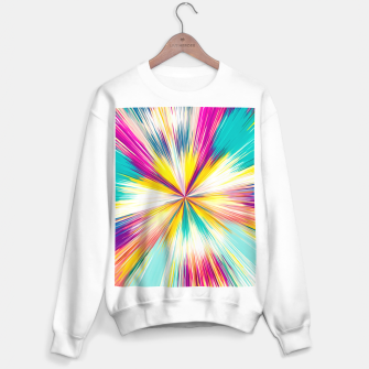 Miniatur psychedelic geometric abstract pattern in yellow blue pink Sweater regular, Live Heroes