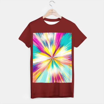 Miniaturka psychedelic geometric abstract pattern in yellow blue pink T-shirt regular, Live Heroes