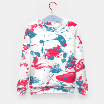 Miniatur blue and pink splash Kid's Sweater, Live Heroes