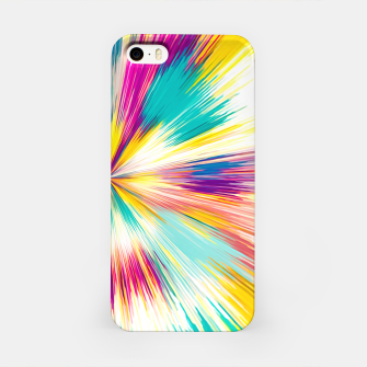 Imagen en miniatura de psychedelic geometric abstract pattern in yellow blue pink iPhone Case, Live Heroes