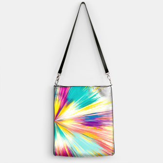 Miniaturka psychedelic geometric abstract pattern in yellow blue pink Handbag, Live Heroes