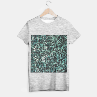 Miniaturka vintage psychedelic geometric camouflage painting abstract in green white and black T-shirt regular, Live Heroes