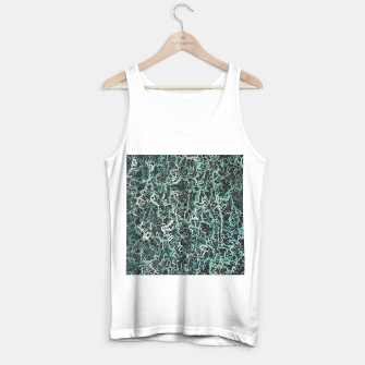 Miniaturka vintage psychedelic geometric camouflage painting abstract in green white and black Tank Top regular, Live Heroes