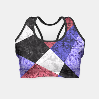 Miniature de image de Marble Geometric Background G435 Crop Top, Live Heroes