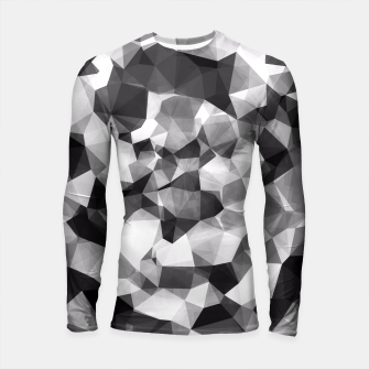 Miniaturka contemporary geometric polygon abstract pattern in black and white Longsleeve Rashguard , Live Heroes