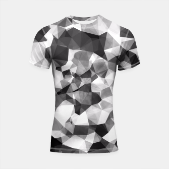 Miniaturka contemporary geometric polygon abstract pattern in black and white Shortsleeve Rashguard, Live Heroes
