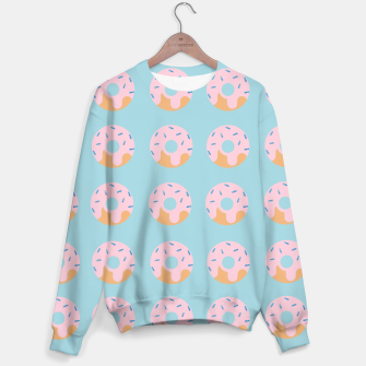 Miniatur Sweet Doughnuts with pink icing Sweater, Live Heroes
